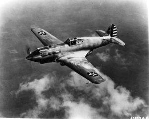 Curtiss XP-40 first flight