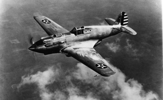 Curtiss XP-40 first flight