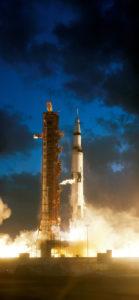 Apollo 4 Saturn V liftoff