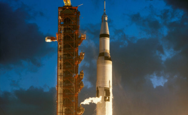 Apollo 4 Saturn V liftoff