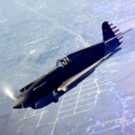 Curtiss-Wright P-40 aircraft in flight