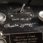 Chuck Yaeger signature in the X-1 cockpit