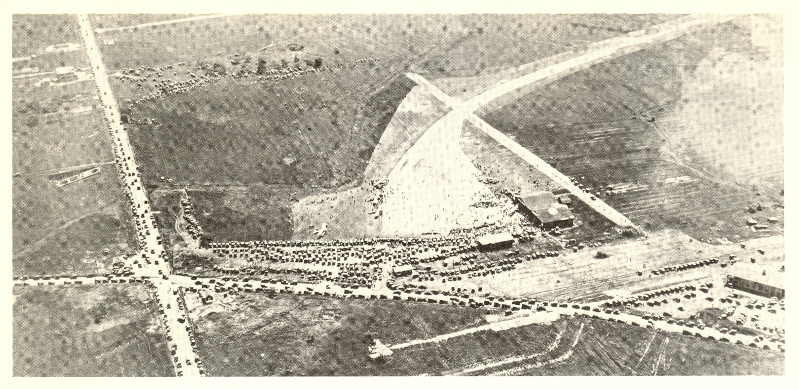 An early aerial view of the aerodrome, looking south