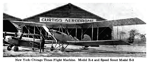 The buildings at the Curtiss Aerodrome